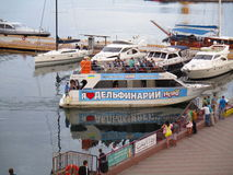 Порт вечера, Одесса, Украина Стоковое фото RF