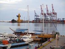 Порт вечера, Одесса, Украина Стоковое Фото
