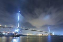 Порт висячего моста и груза Стоковые Изображения