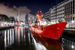 Порт в Роттердаме стоковое фото rf