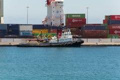 Порт в Arrecife Стоковые Изображения RF