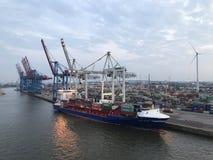 Порт Гамбурга, Германии Стоковая Фотография
