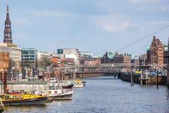 Порт Гамбурга HDR Стоковая Фотография RF