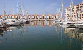 порт Гибралтара шлюпок Стоковые Фото