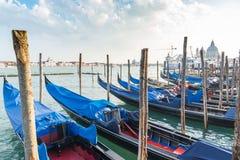 Порт гондолы в Венеции Стоковые Изображения