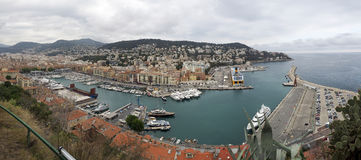 Порт города славной, южной Франции Стоковое Изображение