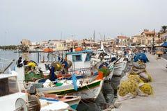 порт греческого острова aegina рисуночный Стоковая Фотография RF
