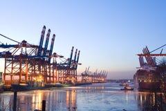порт груза Стоковое Изображение
