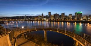 Портленд на ноче Стоковая Фотография RF