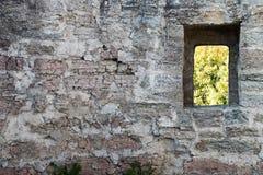 Порт замечания на каменной стене Стоковое Фото