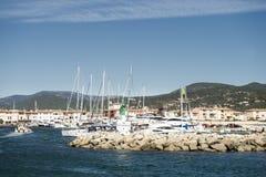 Порт и гавань в St Tropez Стоковые Изображения