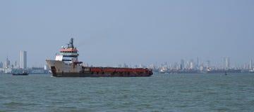 Порт и горизонт Мумбая Стоковое Изображение RF
