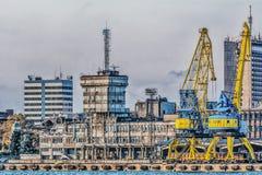 Порт и город Стоковая Фотография RF