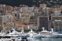 Порт и небоскребы Геркулеса в городе Монако Стоковое Изображение RF