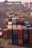 порт контейнера aquaba многодельный стоковая фотография