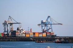 порт контейнеров Стоковое Фото