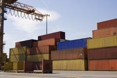 порт контейнеров Стоковая Фотография
