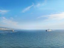 Порт корабля приезжая Стоковые Фото
