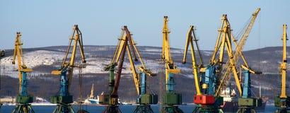 порт кранов Стоковые Фото