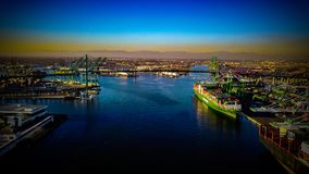 Порт Лос-Анджелеса Калифорнии стоковые изображения rf