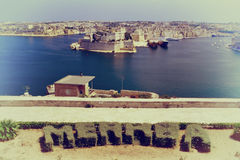 Порт Мальты, года сбора винограда Стоковые Фото