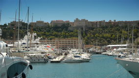 Порт Монако, Cote d'Azur Франции сток-видео