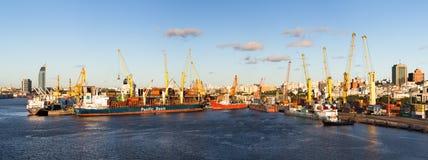 Порт Монтевидео, Уругвая стоковое фото