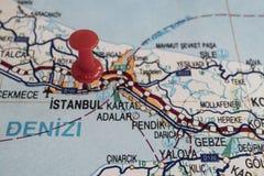 Порт назначения на карте страны индюка стоковые изображения