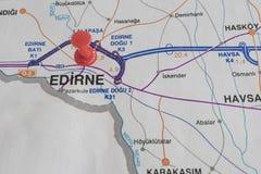 Порт назначения на карте страны индюка стоковая фотография