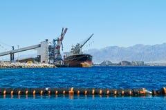Порт на береге стоковое фото rf