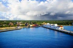 Порт на Cozumel, Мексике стоковые фотографии rf