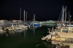 Порт на ноче Стоковые Изображения
