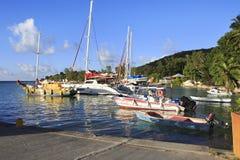 Порт на острове Ла Digue Стоковая Фотография RF