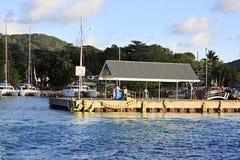 Порт на острове Ла Digue Стоковое Изображение