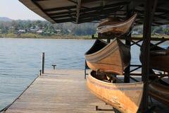 Порт на реке Стоковая Фотография