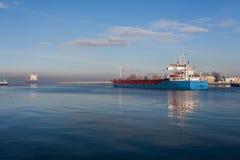 Порт на утре Стоковая Фотография