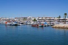 Порт на юге  Португалии - сожмите принимать визирования взгляда снаружи, без характера и дня Стоковое Изображение