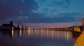 порт ночи Стоковое Изображение RF