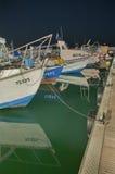 Порт ночи Стоковое Изображение