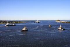 Порт Ньюкасл доставки Стоковые Изображения RF