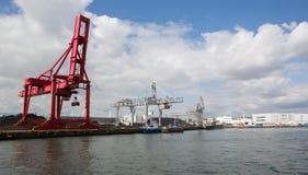 Порт Осака, груз стоковое изображение rf