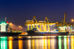 Порт доставки Стоковые Фото