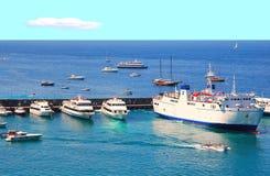порт острова capri Стоковые Изображения RF