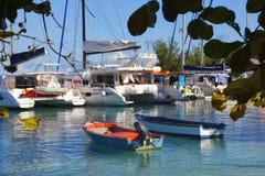 Порт острова Digue Ла Стоковые Фотографии RF