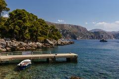 Порт острова Lokrum, около Дубровника, Хорватия стоковое изображение