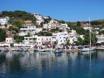 Порт, остров грека Skyros стоковые изображения rf