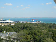 Порт Одессы от высоты Стоковое фото RF