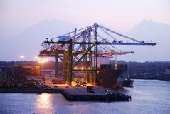 порт Панамы Стоковое Изображение