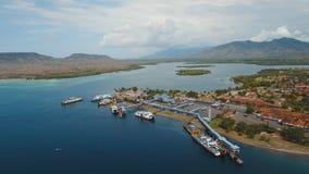 Порт пассажирского парома моря, Gilimanuk Бали, Индонезия Стоковые Изображения