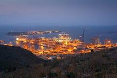 Порт Пирей контейнера, Афины стоковое фото